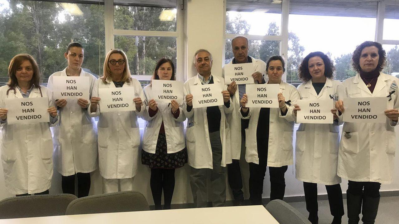 Protesta de las trabajadoras del geriátrico DomusVi de Viveiro.Mos