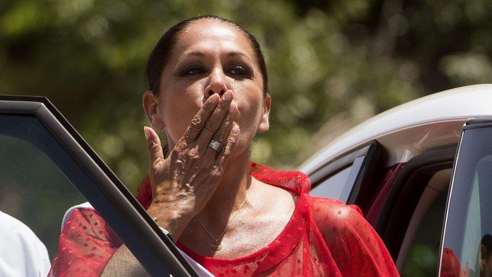 Isabel Pantoja sale de la cárcel con un permiso.Isabel Pantoja, saliendo de la cárcel para un permiso