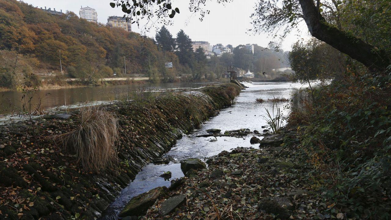 Durante el otoño, era posible cruzar el Miño a pie en algunos tramos a su paso por Lugo