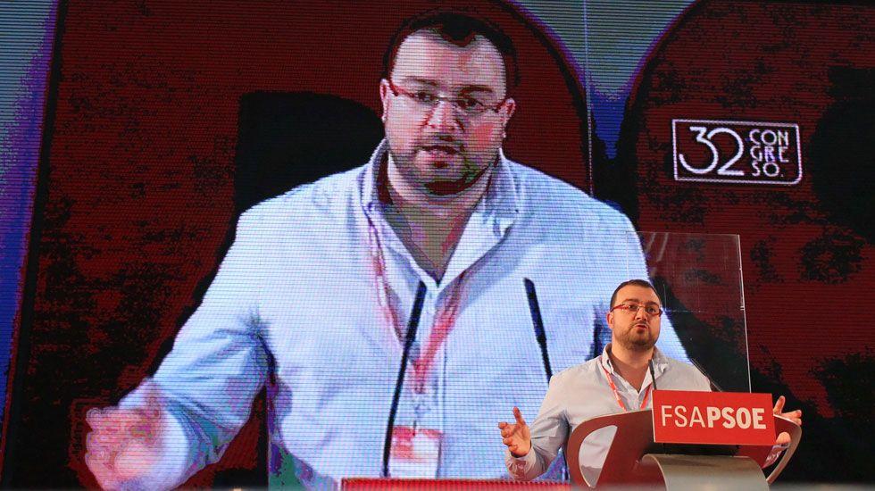 .Adrián Barbón, en su discurso de toma de posesión como secretario general de la FSA