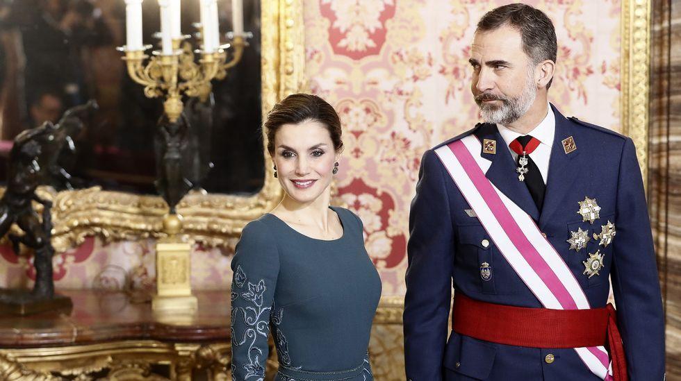 Los Reyes presiden la Pascua Militar.