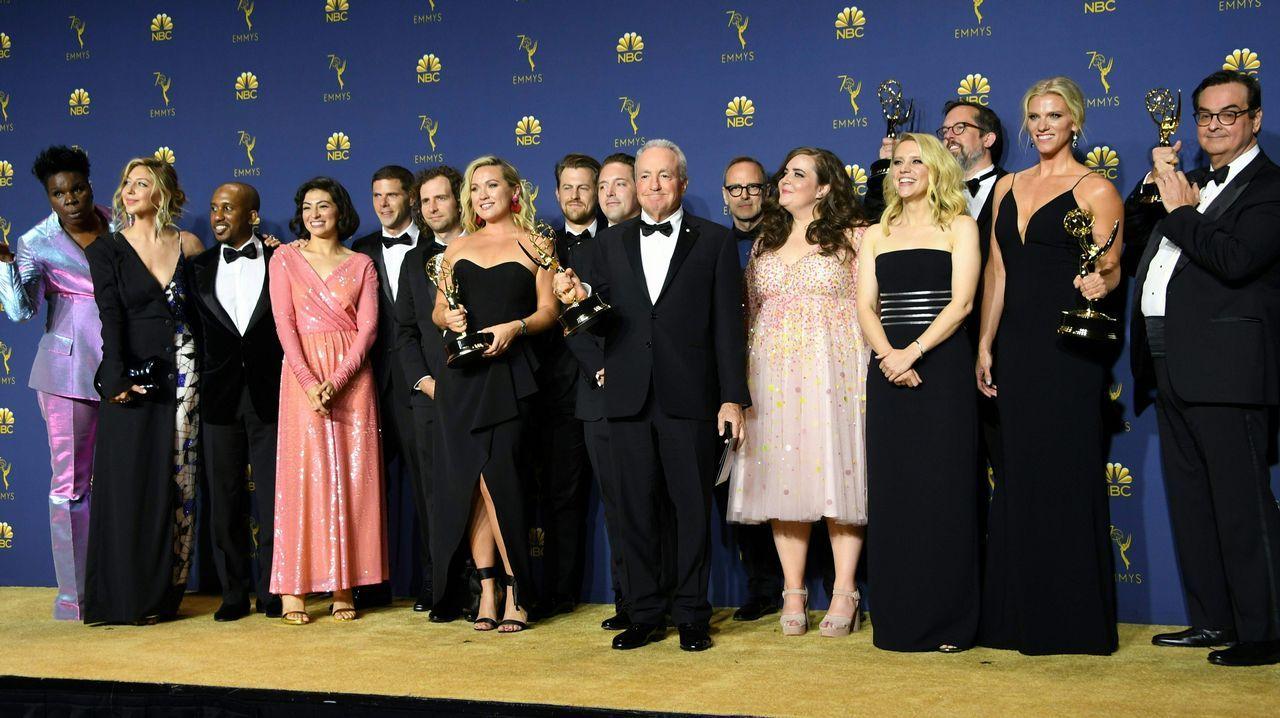 Emmy 2018: Lorne Michaels y el elenco de «Saturday Night Life»