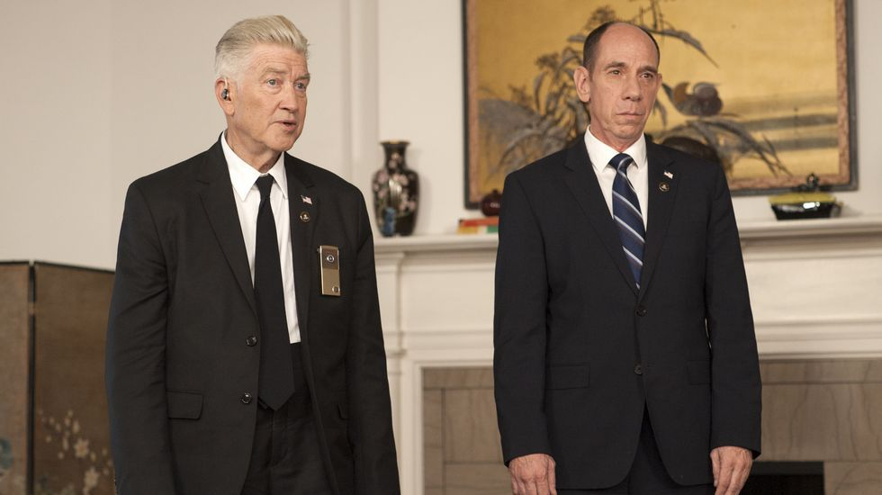 David Lynch y Miguel Ferrer