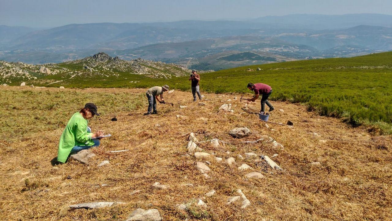 Así se ven desde el aire los restos del campamento militar romano más antiguo de Galicia.Mercury Rev, en el Gijón Sound Festival