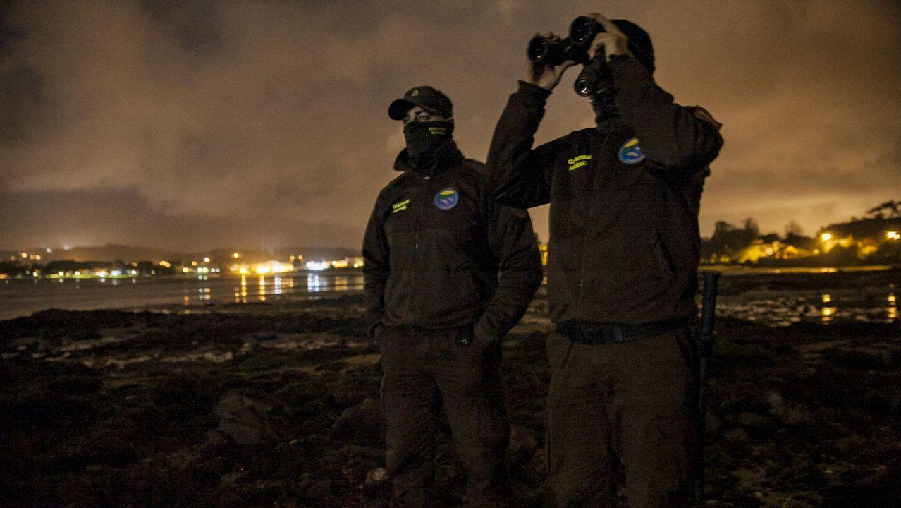 En directo con los guardas rurales de la cofradía de Cabo de Cruz.Angulas descubiertas