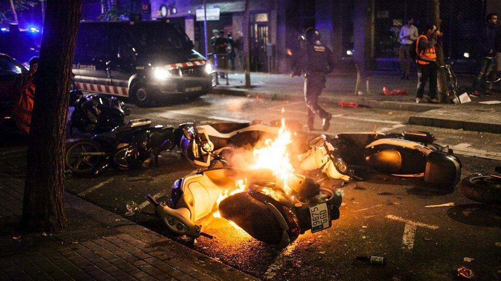 Disturbios en Gràcia.