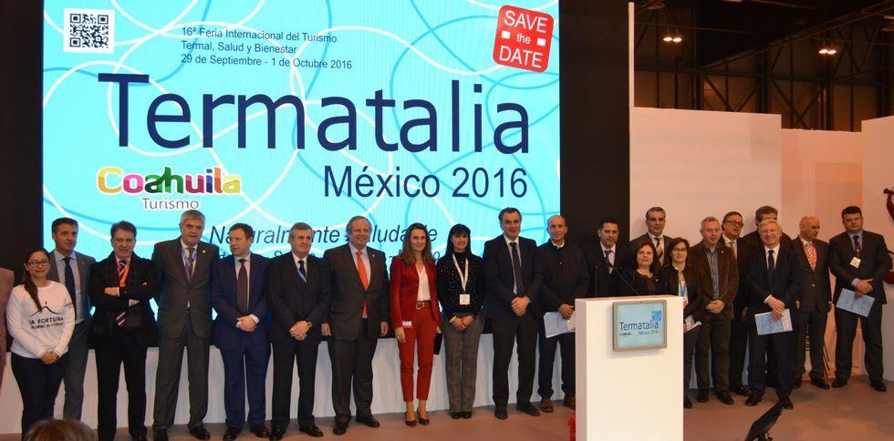 .Ourense y México compartieron protagonismo en la presentación de Termatalia en Fitur.