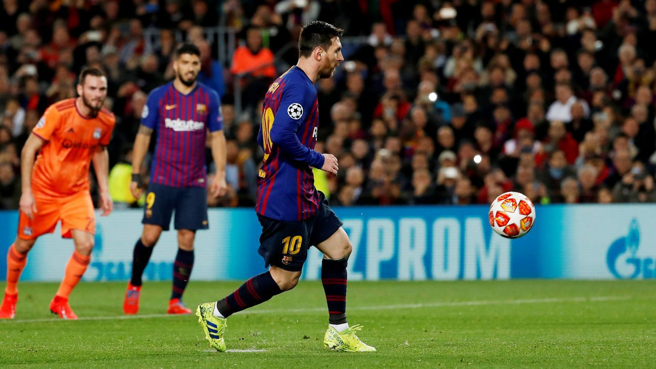 Messi abrió el marcador al transformar un penalti a lo Panenka