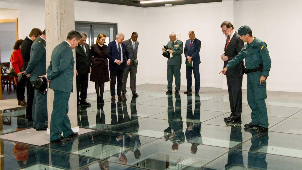 .Rajoy inauguró un centro de la Guardia Civil en Logroño, donde dijo que se seguirá aplicando la ley