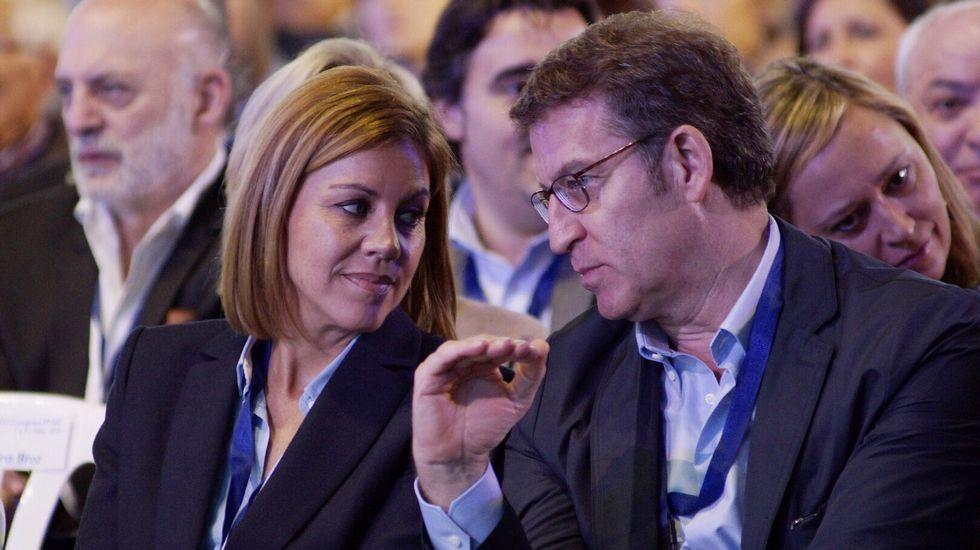 «Vamos a seguir independientes, ahora estamosen una situación de mayor fortaleza».Cospedal y Feijoo