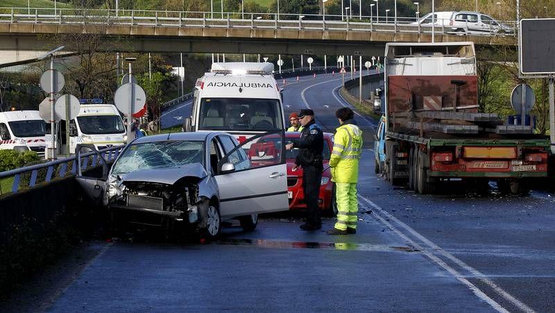 Aparatoso accidente en A Coruña