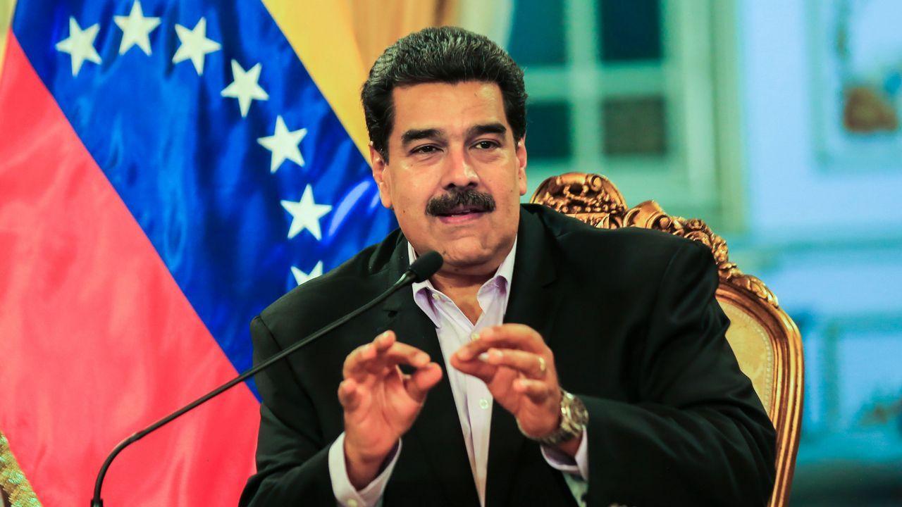 La oposición a Maduro vuelve a las calles.Miembros de la policía bolivariana en Venezuela