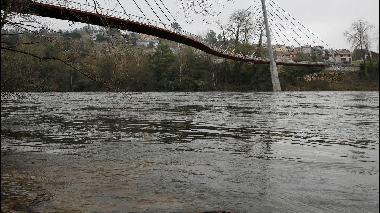 El Miño, ahora, a su paso por Ourense