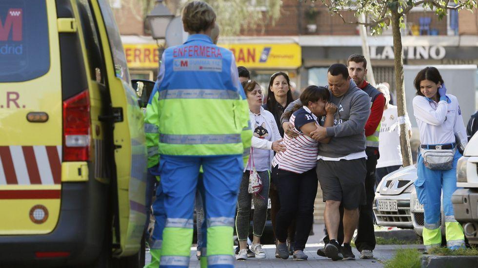 El asesino del pub de Alcorcón ya ha sido identificado.Ignacio González, a su llegada anoche a la Comandancia de la Guardia Civil de Tres Cantos, Madrid