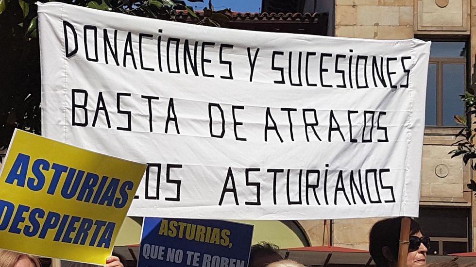 Manifestación contra el impuesto de sucesiones.Manifestación contra el impuesto de sucesiones