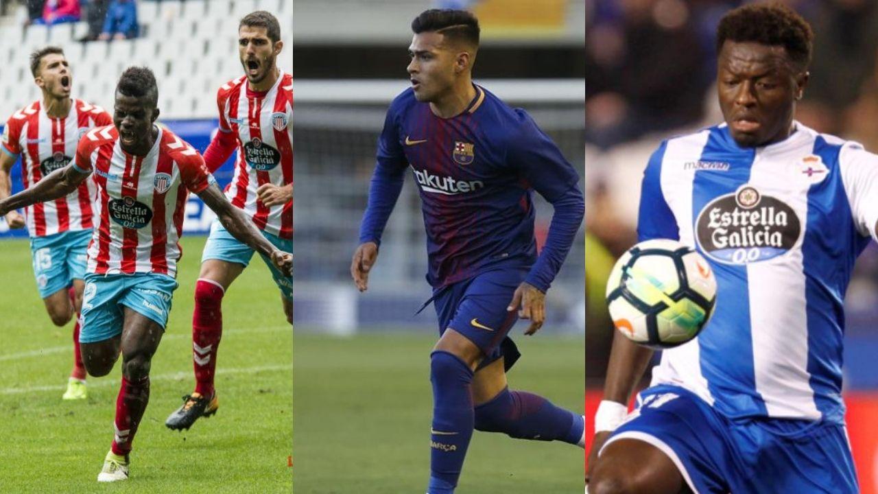 Real Oviedo Carlos Tartiere Lugo Horizontal.Azeez, Nahuel y Muntari