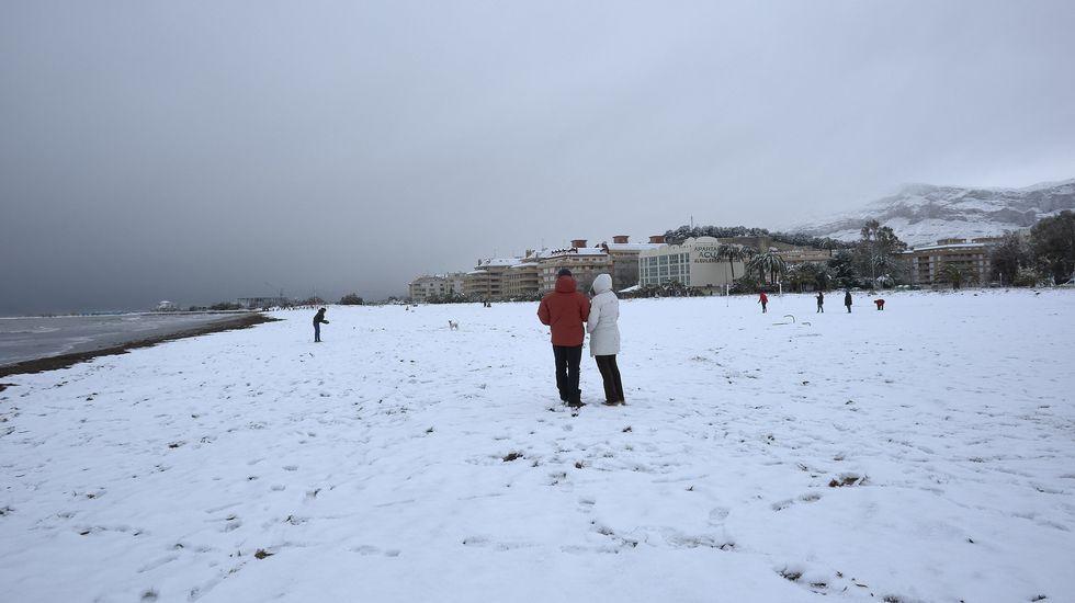 Las nevadas en la costa mediterránea, en imágenes.