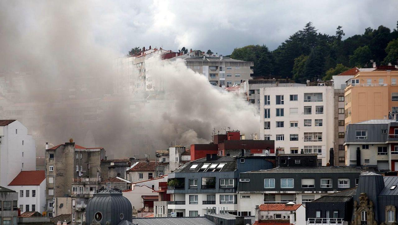 .Incendio en Vigo