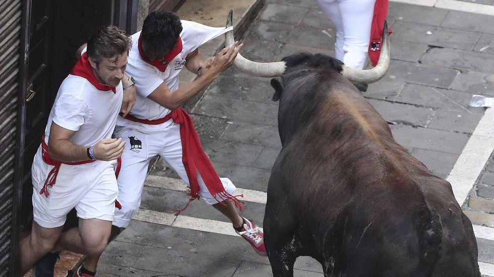 Segundoencierro de San Fermín.Manifestación contra las agresiones en sanfermines celebrada esta misma semana