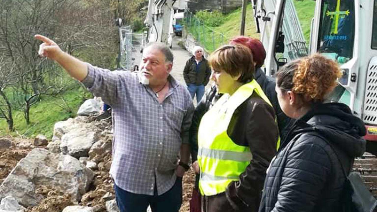 Ana Rivas visita las obras de reparación de los daños causados por el temporal