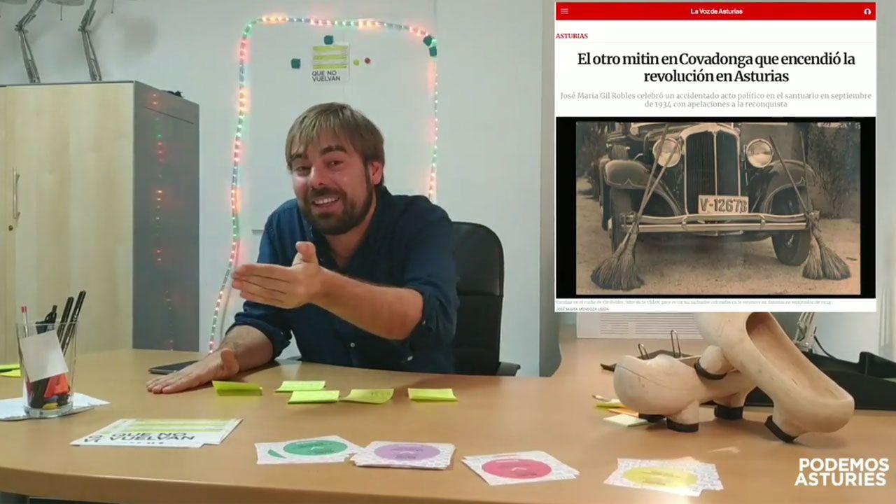 El vídeo de Daniel Ripa sobre la presencia en Asturias de los líderes de la derecha en campaña.Pablo Casado, en el acto político del PP en Alicante