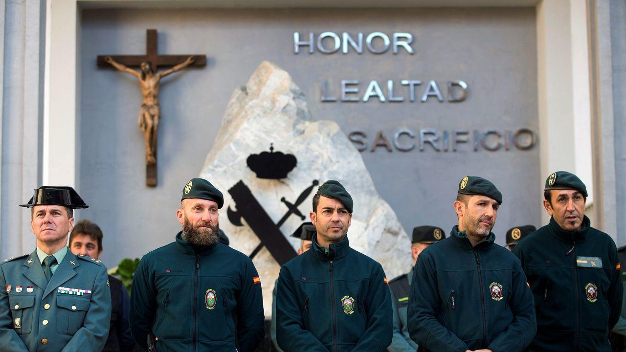 |EFE.Los agentes de montaña de la Guardia Civil que participaron durante 13 días en el operativo de rescate de Julen en Totalán