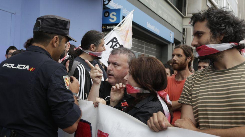 Manifestación contra la ley mordaza en el año 2015