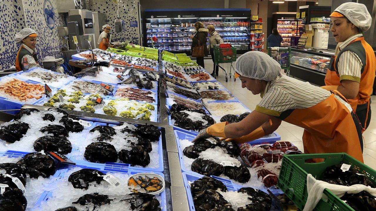 Caballero visita el nuevo Mercadona de Vigo