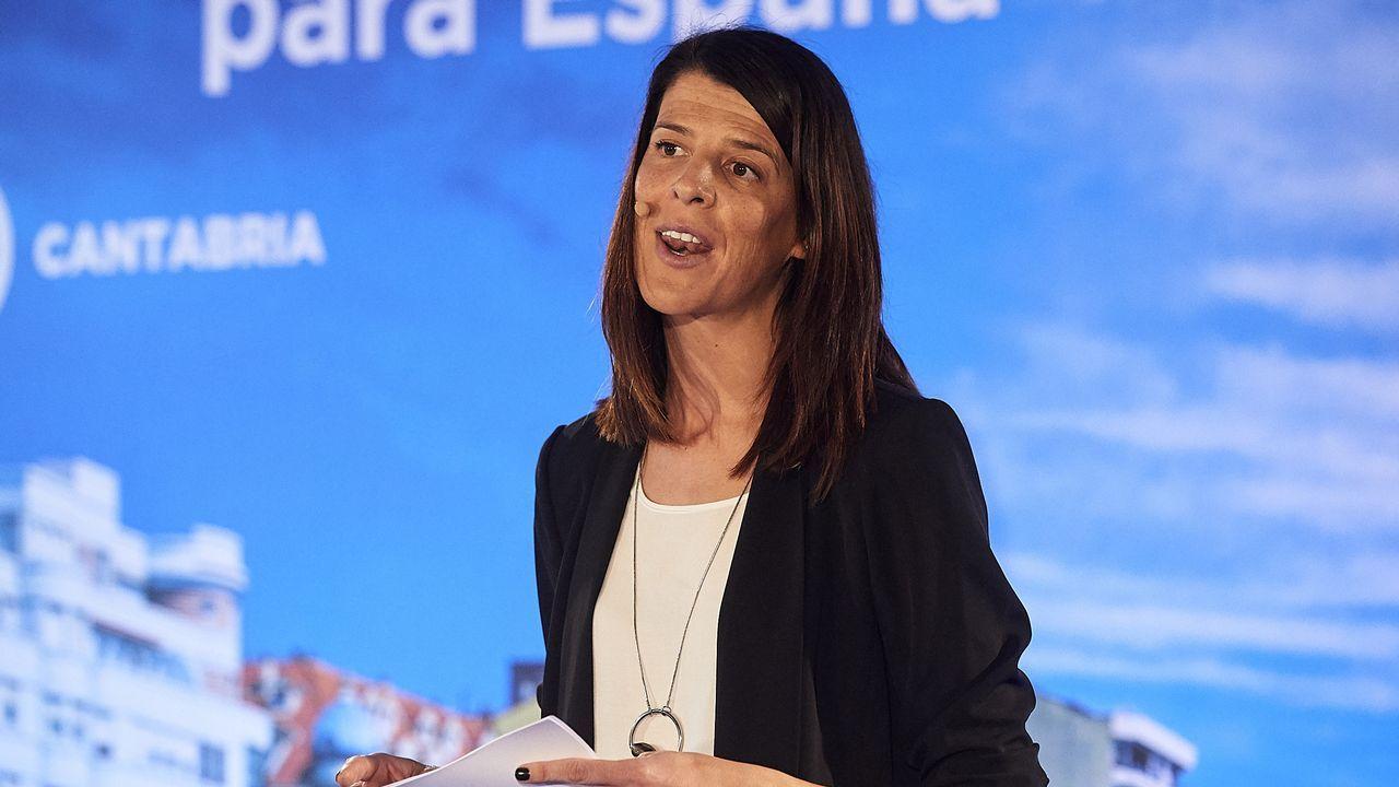 Ruth Beitia, durante el acto de presentación del PP de su candidatura autonómica en Cantabria