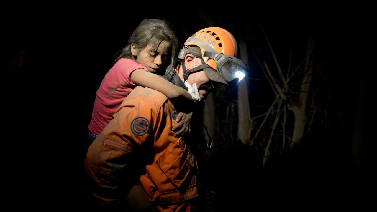 Desastre natural en Guatemala.