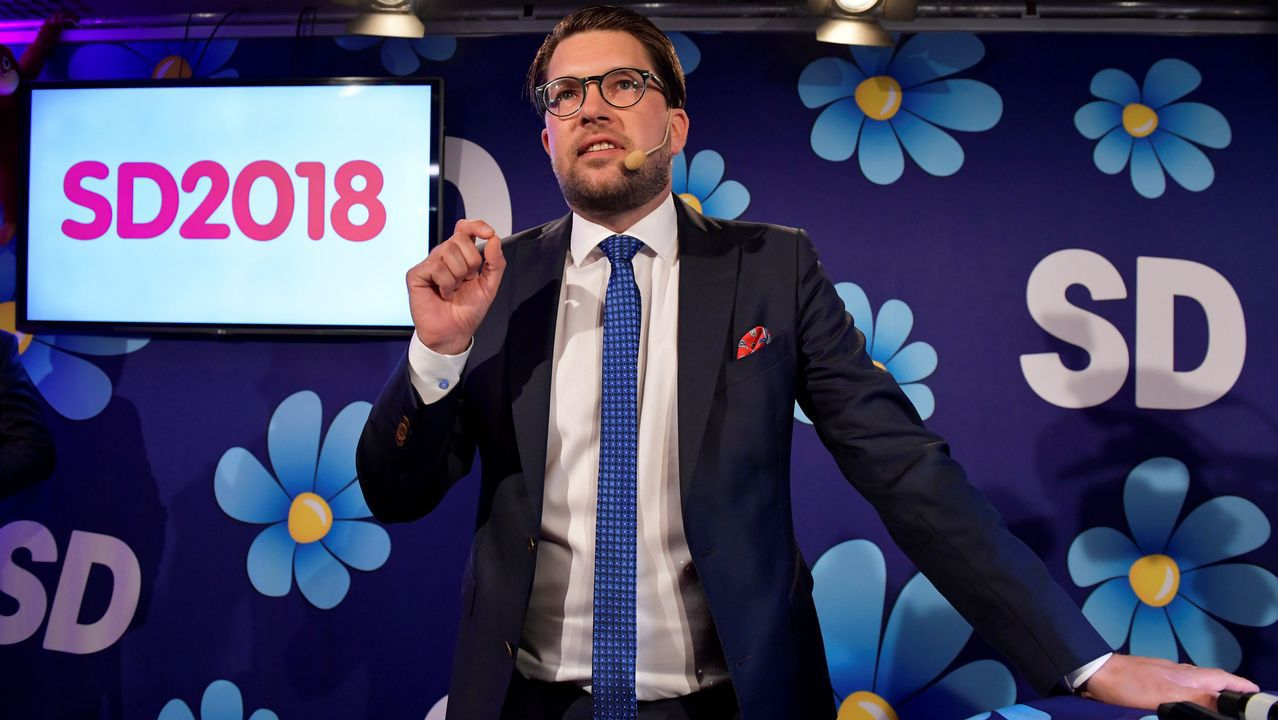 Empate técnico en Suecia entre los socialdemócratas y la derecha con la ultraderecha como tercera fuerza.El líder ultraderechista Jimmie Akesson