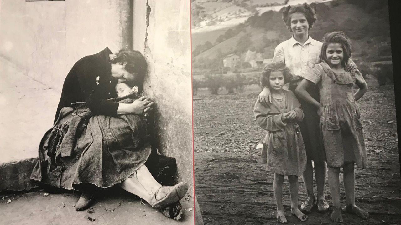 Un trabajador en la fábrica de Asturiana de Zinc (Azsa).Exposición permanente en el Pozo Sotón para reconocer el trabajo de las mujeres en el exterior de las explotaciones
