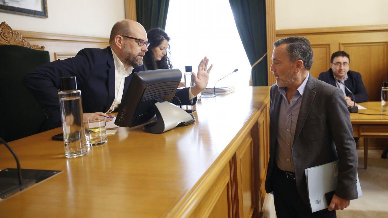 Santiago estrena el cuarto acceso de la AP-9.Rueda de prensa de Núñez Feijoo tras el Consello de la Xunta