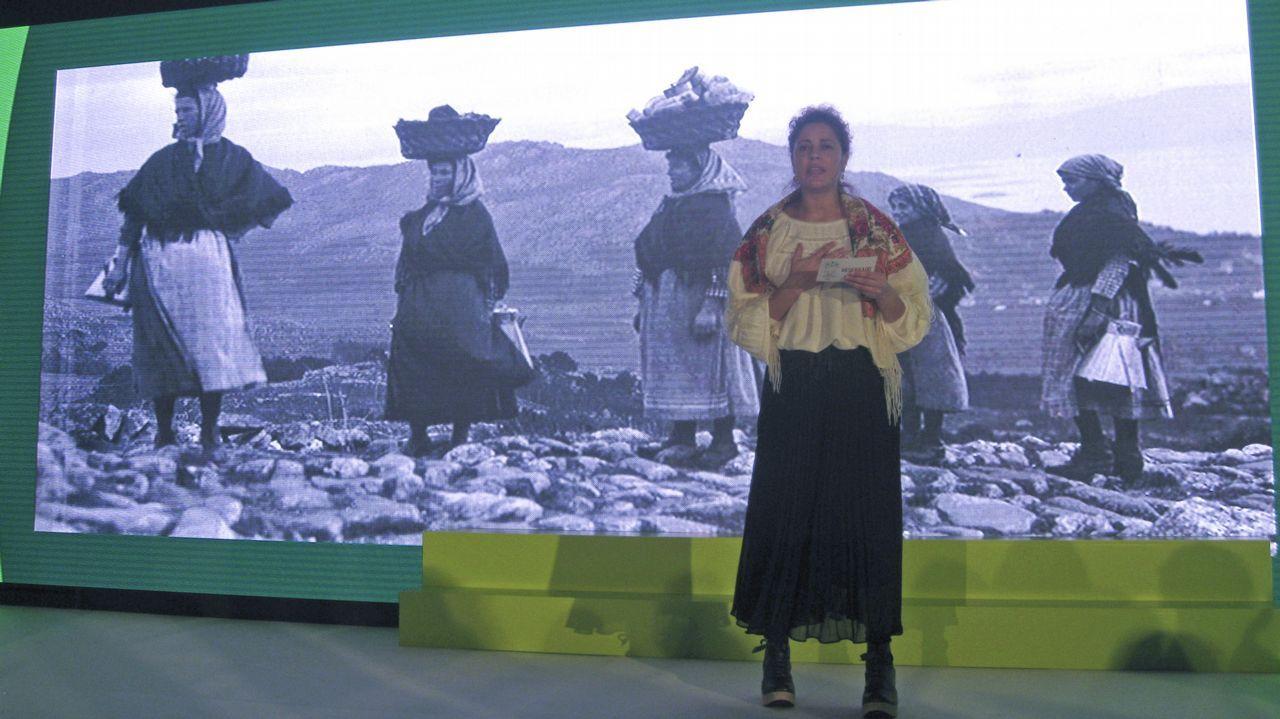Entrega de los Premios Exceleite en Vilalba.La comisionada nació en Valencia, pero su familia es originaria de Galicia