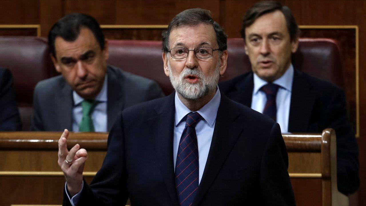 Rufián recuerda al PSOE que el «mejor desinfectante es la cal viva».Mariano Rajoy