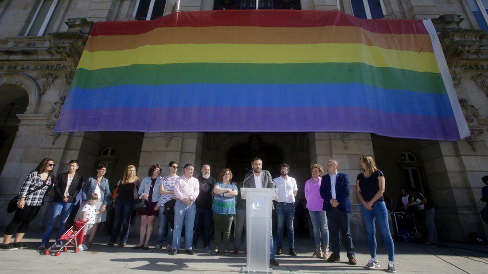Acto institucional polo Día do Orgullo LGTBQI