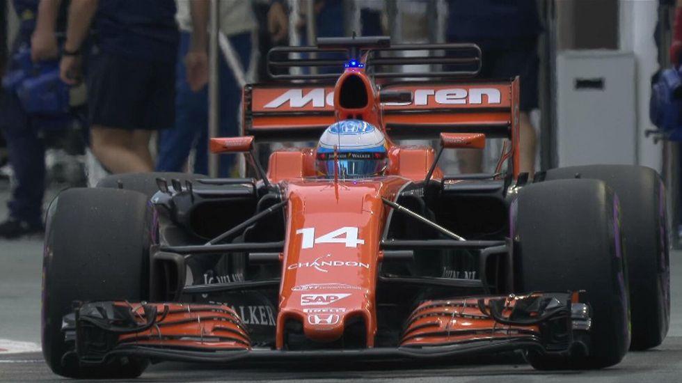 Fernando Alonso en el Gran Premio de Singapur.