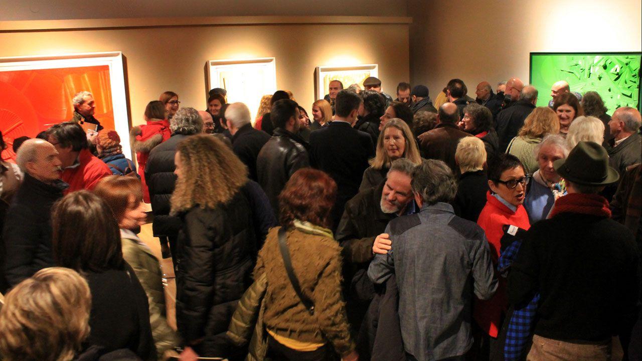 Barrio pescadores Gijón Cimavilla.Un aspecto de la inauguración de la muestra dedicada a Alejandro Mieres en la Casa Natal de Jovellanos