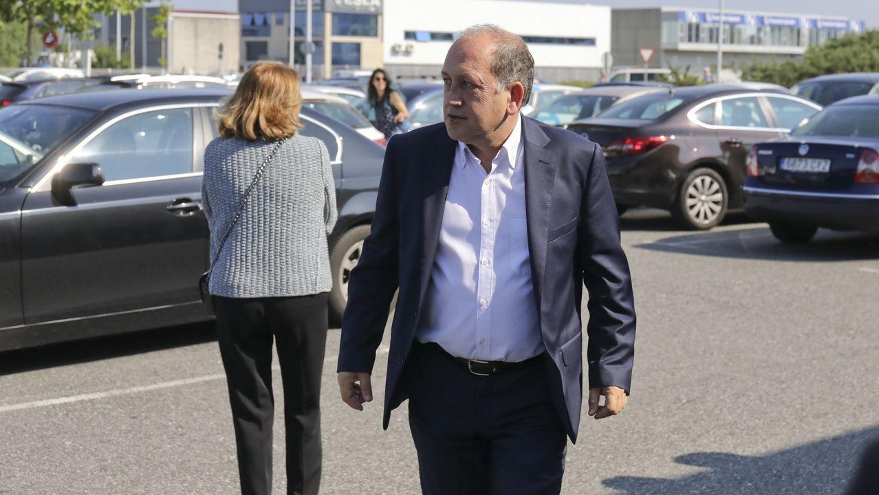 El portavoz del PSdeG en el Parlamento, Xoaquín Fernández Leiceaga