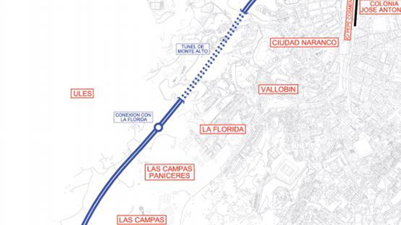 .Proyecto original de la Ronda Norte de Oviedo