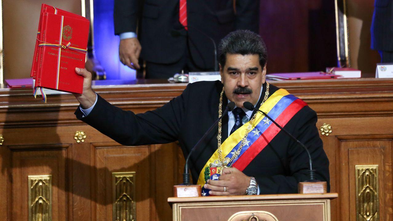 Maduro durante su intervención a la Asamblea Constituyente chavista
