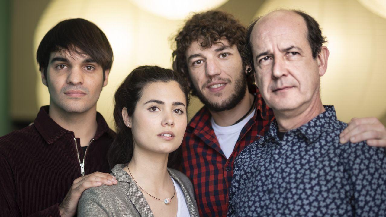 Centro penitenciario de Villabona.Eneko Sagardoy, Loreto Mauleón, Jon Olivares y Mikel Laskurain