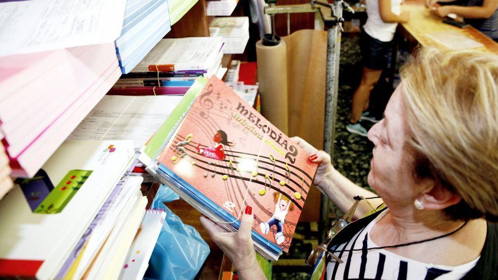 Elena González, presidente de la FAPA Miguel Virgós, durante la huelga contra las reválidas.Elena González, presidente de la FAPA Miguel Virgós, durante la huelga contra las reválidas