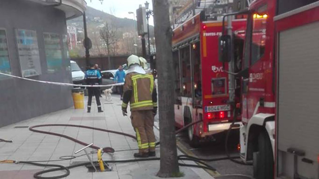 Incendio en Oviedo