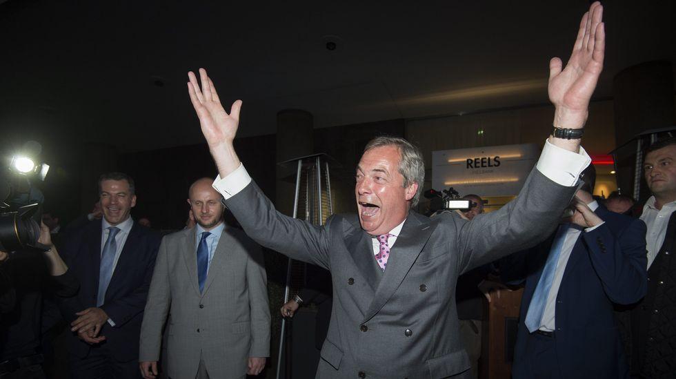 El líder del Partido Independencia del Reino Unido (UKIP) Nigel Farage