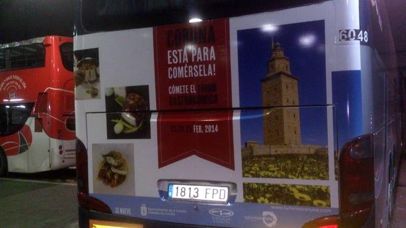 Autobús promocional del Fórum Gastronómico de A Coruña