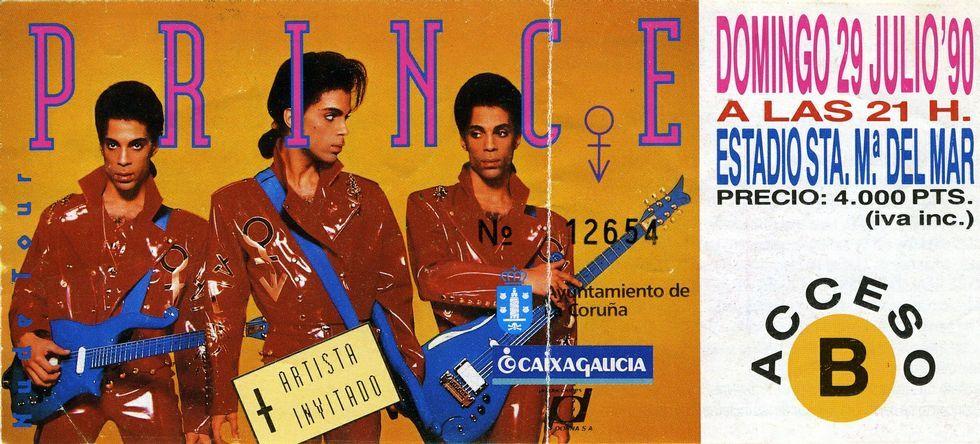 Un hito. El concierto de Prince en A Coruña en 1990 fue un hito para toda una generación de aficionados a la música, que tuvieron que pagar 4.000 pesetas de entonces para asistir.