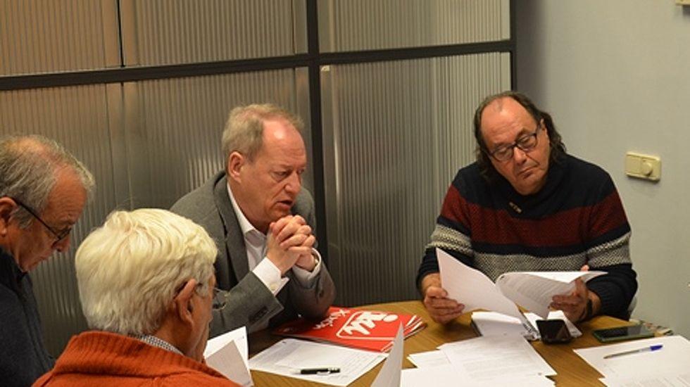 Aurelio Martín y Suárez del Fueyo durante una reciente reunión sobre memoria histórica