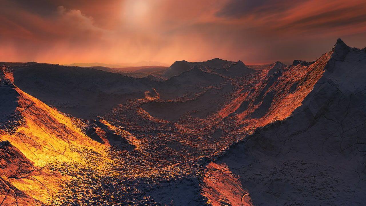 Ilustración del planeta cedida por el Observatorio Europeo Austral