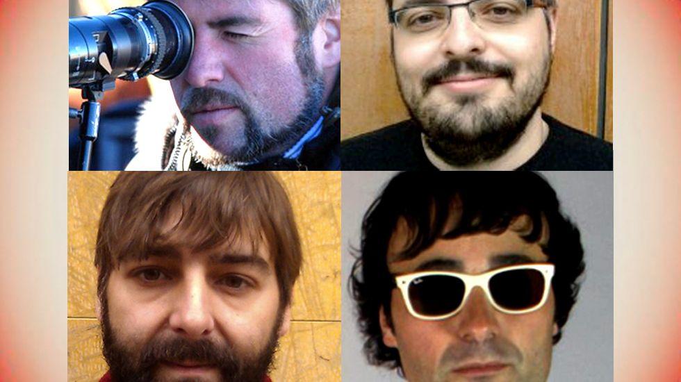 En sentido de las agujas del reloj, Nacho Carballo, Jaime de Linaje, Gonzalo de Pedro y Jorge Rivero
